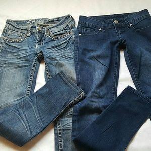 💞Bundle of jeans size 0 LA idol  Rue21 skinny